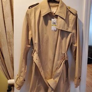 Khaki Michael Kor rain coat